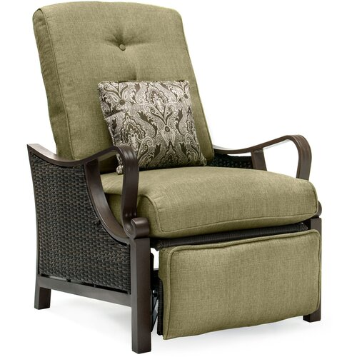 Hanover Outdoor Ventura Luxury Recliner Chair with Cushions & Reviews