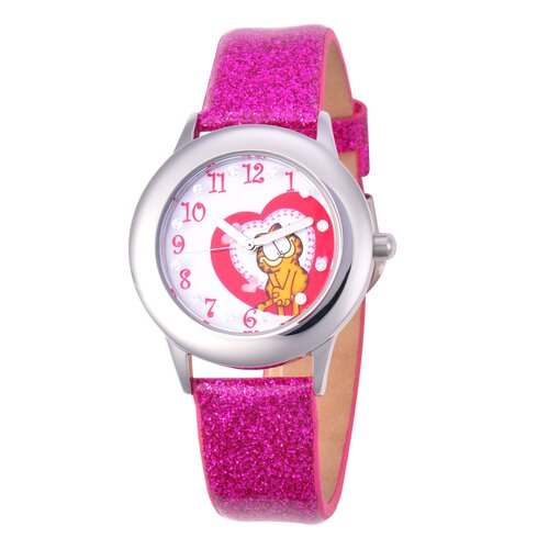 Garfield Tween Glitz Time Teacher Leather Strap Watch