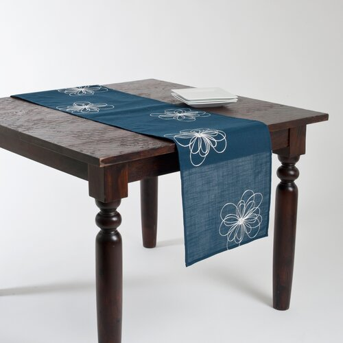 Carly Embroidered Flower Design Runner