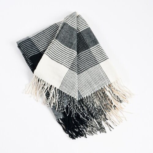 Saro Plaid Design Throw