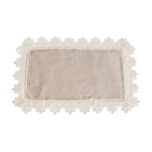 Saro Lace Trimmed Tray Cloth