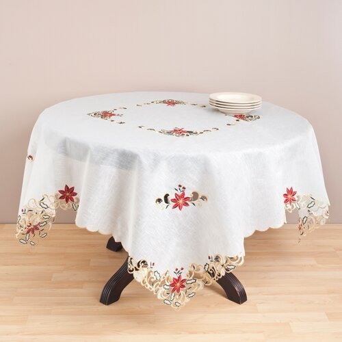 Embroidery and Cutwork Table Cloth