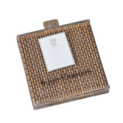 Bamboo Coaster (Set of 6)