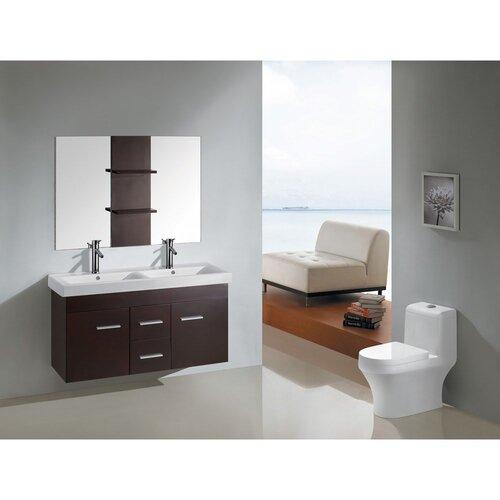 """Kokols 47"""" Floating Wall Mount Bathroom Vanity Set"""