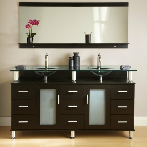 Kokols 60 Double Free Standing Bathroom Vanity Set Reviews Wayfair