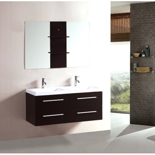 Kokols 48 double floating bathroom vanity set Floating bathroom vanity