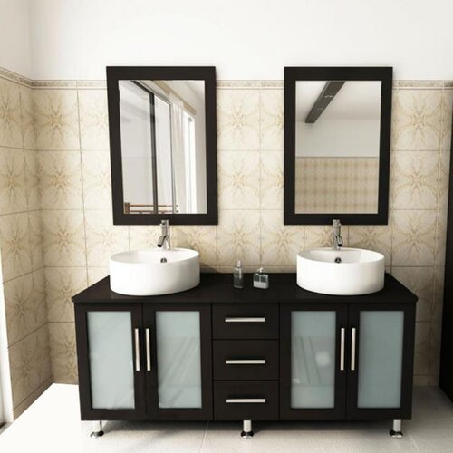 kokols 60 double bathroom vanity set i reviews wayfair