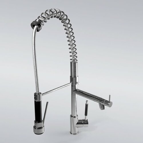 Deck Mount Kitchen Sink Faucet with Pull Out Spray