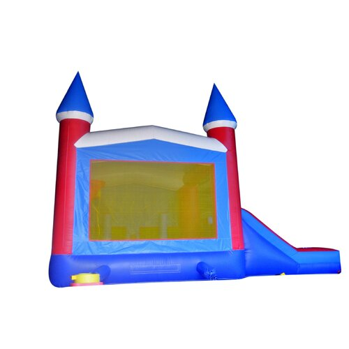 JumpOrange Patriot Xtreme Wet/Dry Commercial Grade Inflatable Bouncy House and Slide Combo