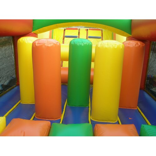 JumpOrange Rainbow Commercial Grade Mega Inflatable Obstacle Course