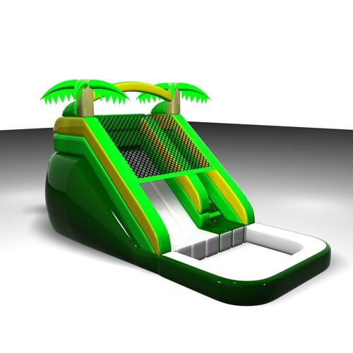 Tropical Mega Wet/Dry Commercial Grade Inflatable Water Slide