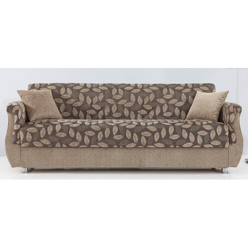Chestnut Convertible Sofa