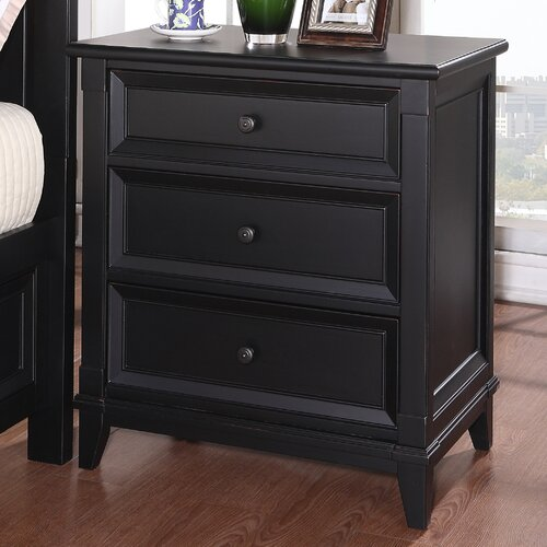 Michael Ashton Design Woodstock 3 Drawer Nightstand