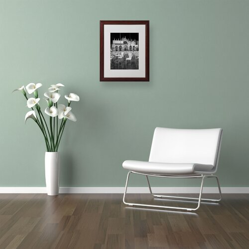 'Chairs In San Marco' Matted Framed Art by Moises Levy