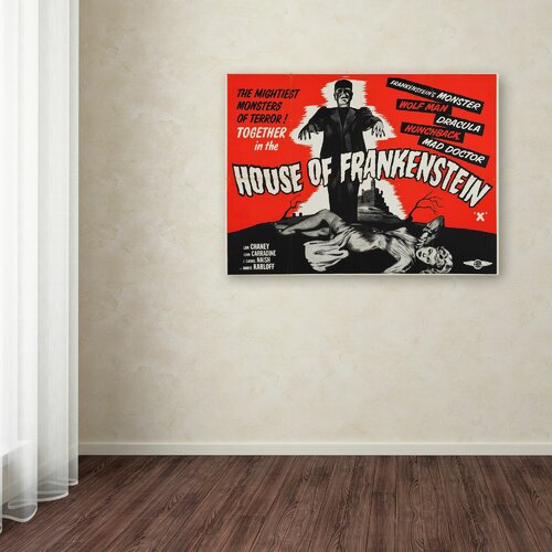 Vintage Apple 'House of Frankenstein' Canvas