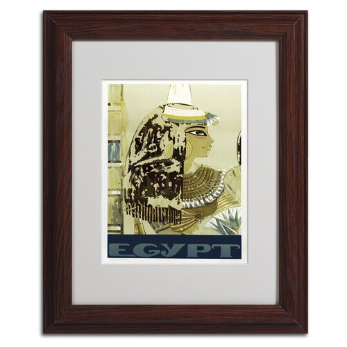Vintage Apple 'Visit Egypt Cleopatra' Framed Art