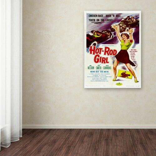 Vintage Apple 'Hot Rod Girl' Canvas