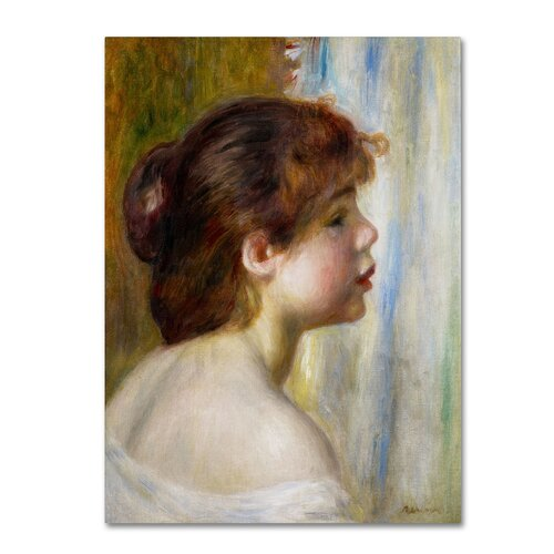 "Trademark Fine Art ""Head of a Young Woman"" Canvas Art"