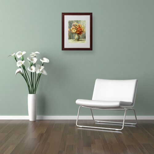 "Trademark Fine Art ""Vase d""Anemones"" Matted Framed Art"