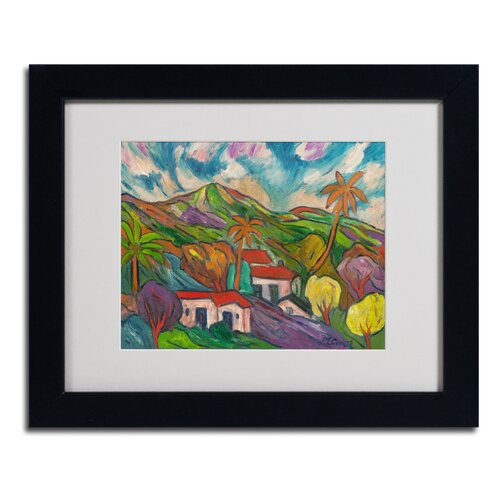 Manor Shadian 'Tropical Valley with Palms' Matted Framed Art