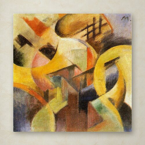 Franz Marc 'Small Composition I 1913' Canvas Art