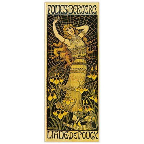 Trademark Fine Art 'Folies Bergere' by Paul Berton Vintage Advertisment on Canvas