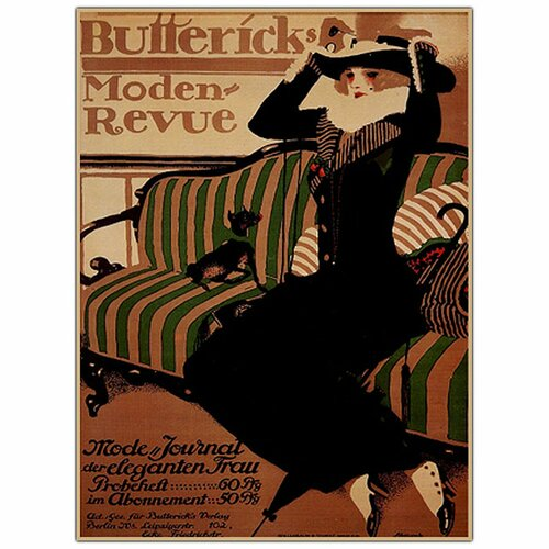"Trademark Fine Art ""Buttericks Modern Revue"" by Paul Scheurich Vintage Advertisement on Canvas"