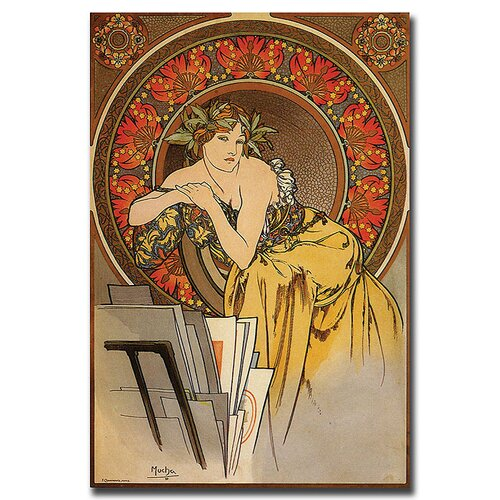 "Trademark Fine Art ""Mucha"" by Alphonse Mucha Painting Print on Canvas"