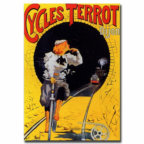Trademark Fine Art 'Cycles Terrot' Vintage Advertisment on Canvas
