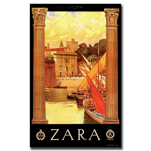 Trademark Fine Art 'Zara' Vintage Advertisment on Canvas