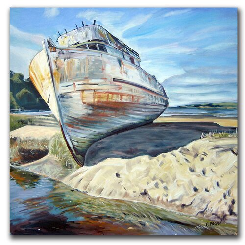 "Trademark Fine Art ""Inverness Boat"" by Colleen Proppe Painting Print on Canvas"