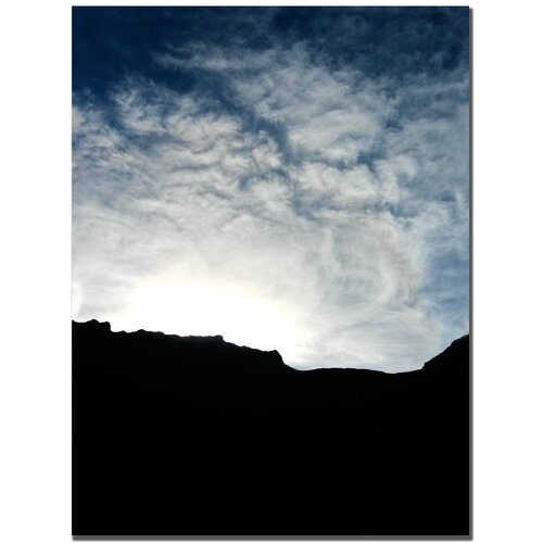 Trademark Fine Art 'Mountain Silhouette' by Tammy Davison Photographic Print on Canvas
