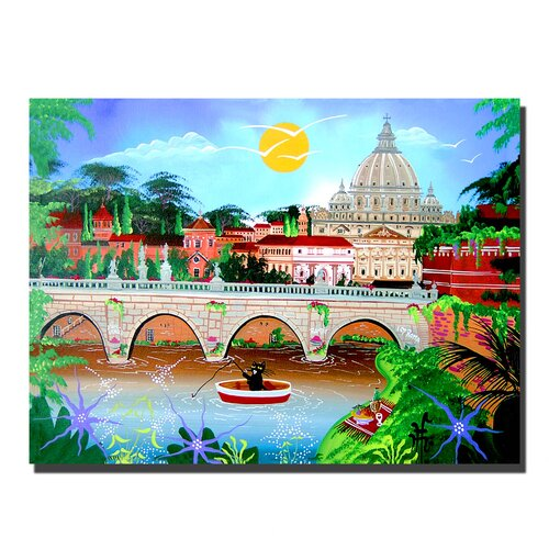 "Trademark Fine Art ""Roma"" by Herbet Hofe Painting Print on Canvas"