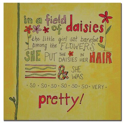 "Trademark Fine Art ""Daisy Girl"" by Nicole Dietz Textual Art on Canvas"