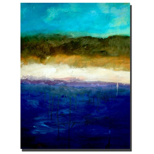 Trademark Fine Art 'Abstract Dunes Study' by Michelle Calkins Painting Print on Canvas
