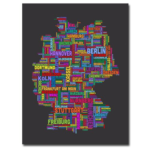 'Germany' by Michael Tompsett Graphic Art on Canvas