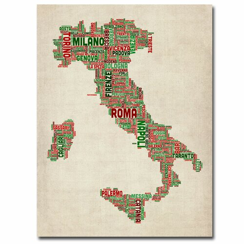 'Italy I' by Michael Tompsett Graphic Art on Canvas