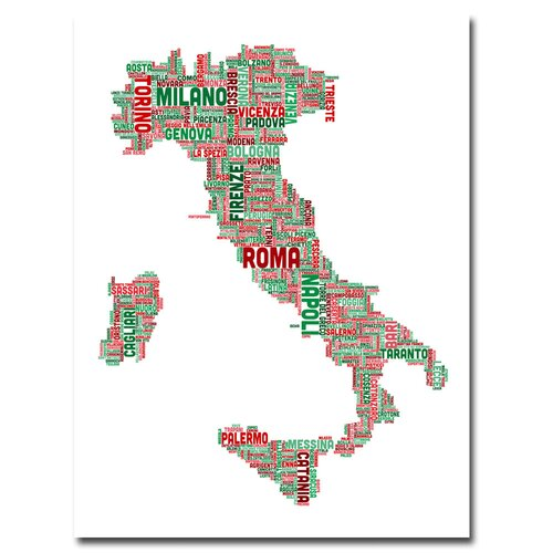 'Italy III' by Michael Tompsett Graphic Art on Canvas