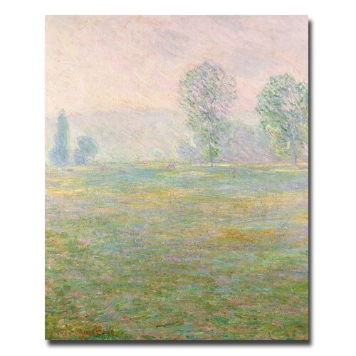 "Trademark Fine Art ""Meadows in Giverny, 1885"" by Claude Monet Painting Print on Canvas"
