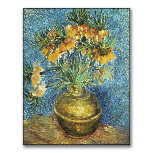 "Trademark Fine Art ""Crown Imperial Fritillaries"" by Vincent Van Gogh Painting Print on Canvas"