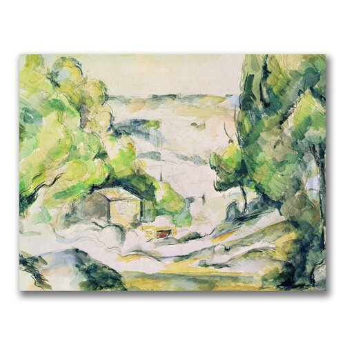 "Trademark Fine Art ""Countryside in Provence"" by Paul Cezanne Painting Print on Canvas"