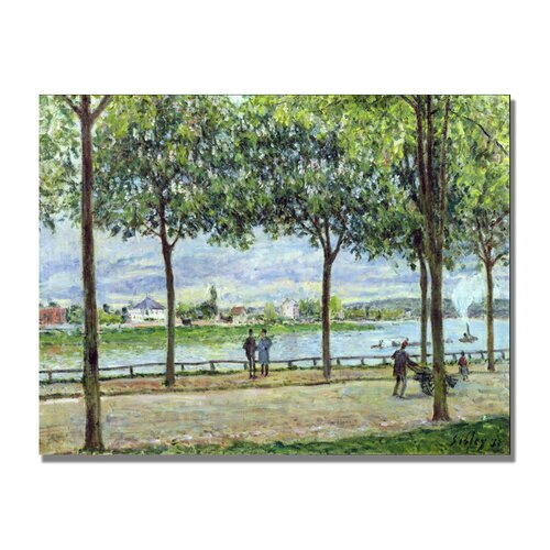 "Trademark Fine Art ""The Avenue of Chestnut Trees II"" by Alfred Sisley Painting Print on Canvas"