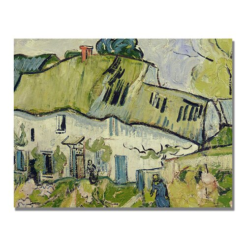 "Trademark Fine Art ""The Farm in Summer"" by Vincent van Gogh Painting Print on Canvas"