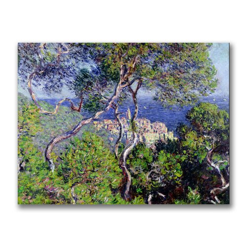 "Trademark Fine Art ""Bordighera, 1884"" by Claude Monet Painting Print on Canvas"