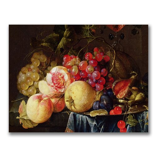 "Trademark Fine Art ""Still Life II"" by Cornelis de Heem Painting Print on Canvas"