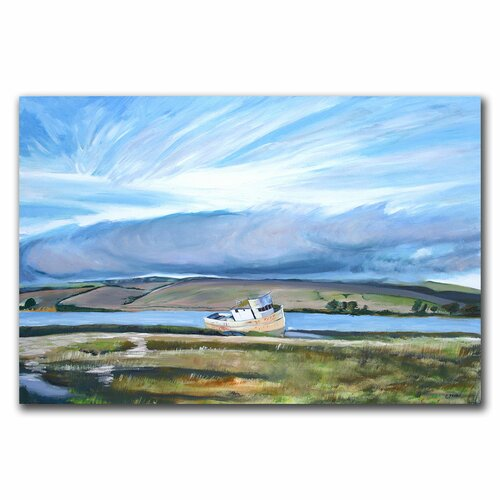 "Trademark Fine Art ""Inverness Sky"" by Colleen Proppe Painting Print on Canvas"