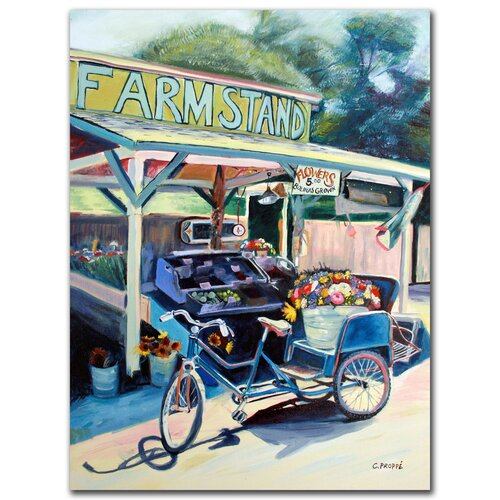 """Trademark Fine Art """"Farmstand"""" by Colleen Proppe Painting Print on Canvas"""