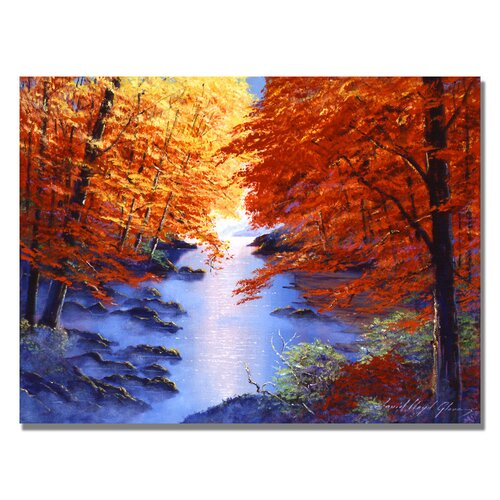Trademark Fine Art 'Misty Blue Morning' by David Lloyd Glover Painting Print on Canvas