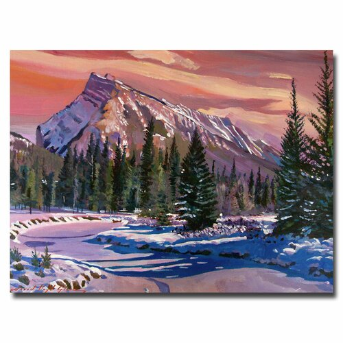 'Ice River Sunrise' by David Lloyd Glover Painting Print on Canvas