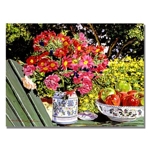Trademark Fine Art 'Apples and Flowers' by David Lloyd Glover Painting Print on Canvas